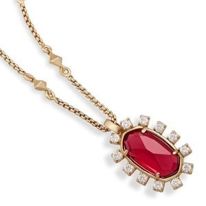 KENDRA SCOTT BERRY CONVERTIBLE PENDANT NECKLACE